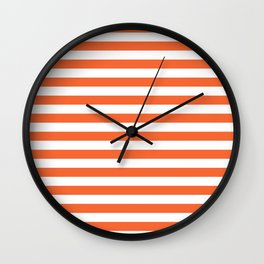Orange and white university clemson alumni team sports football college Wall Clock