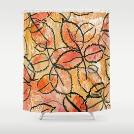 Grounded Leaves Shower Curtain