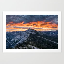 Firey Yosemite Sunrise Art Print