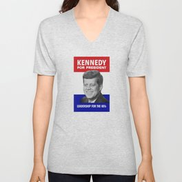 Kennedy For President - Leadership For The 60's Unisex V-Neck