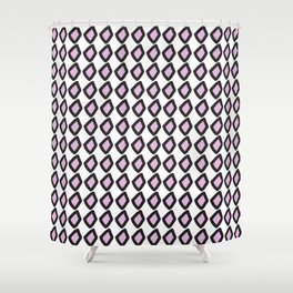 Digital Vector Graphic Black & Violet Diamonds Shower Curtain