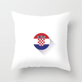 Minimal Croatia Flag Throw Pillow