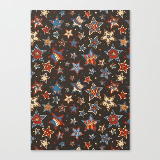 Doodle Stars Canvas Print