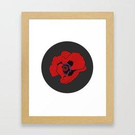 Poppy time Framed Art Print