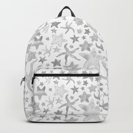 Grey Starfish Pattern - Light Backpack
