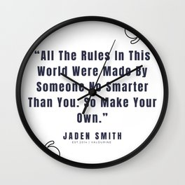 22   |  Jaden Smith Quotes | 190904 Wall Clock