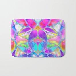 Floral Fractal Art G307 Bath Mat