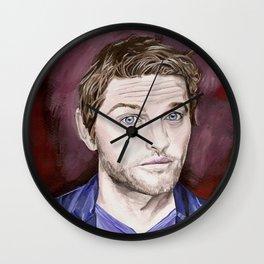 Misha Collins, acrylic painting Wall Clock