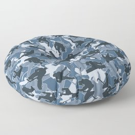 Ice Hockey Player Camo URBAN BLUE Floor Pillow