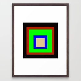 homage to the CMYK square. Framed Art Print