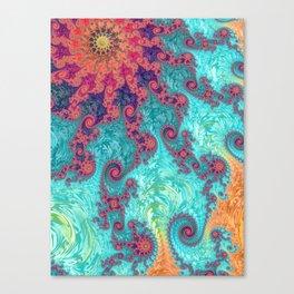 Rainbow Fractal Canvas Print