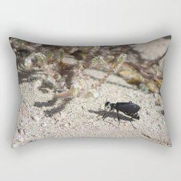 Closeup Black Blister Beetle... 2 Rectangular Pillow