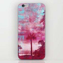 Pacific Island Grunge Look Mixed Media Art iPhone Skin