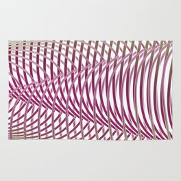 Op-art - intertwining wavy lines Rug