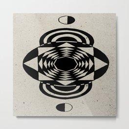 Octagonal Illusion Metal Print