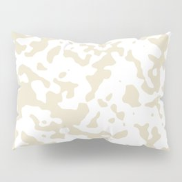 Spots - White and Pearl Brown Pillow Sham