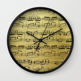 Notes on Gold One Solace Wall Clock