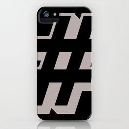 Big Hashtag iPhone Case