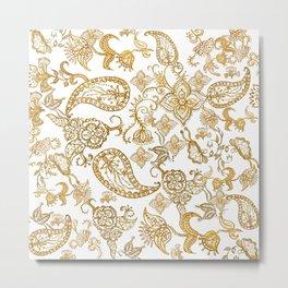 India henna pattern Metal Print