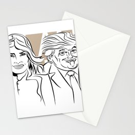 Face Melania And Donald Stationery Cards