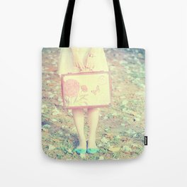 Travel Vintage Girl  Tote Bag