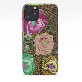 Leopard love flowers iPhone Case