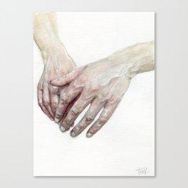 Watercolour Hands Canvas Print