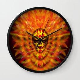 Flaming Skull 3 Wall Clock