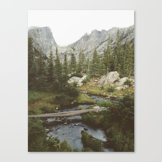 Dream Lake Creek Canvas Print