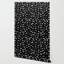 Cat Meow Pattern Wallpaper