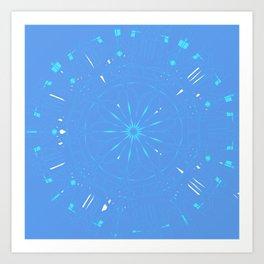 Psychadelic Space Mandala - Periwinkle Art Print