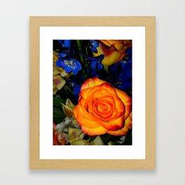 Blue Nights & Orange Skies Framed Art Print