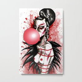 Bubblegum Bitch Metal Print