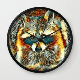 AnimalArt_Raccoon_20170602_by_JAMColorsSpecial Wall Clock