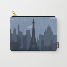 Paris Skyline At Night Carry-All Pouch
