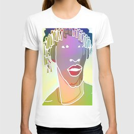 Ebony Purple Headdress White T-shirt