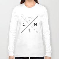 cincinnati Long Sleeve T-shirts featuring OHIOXCINCINNATI by Luther Tenbridges