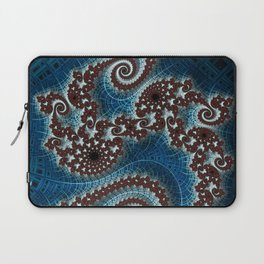 Scrolling Crosshatched Abstract Laptop Sleeve
