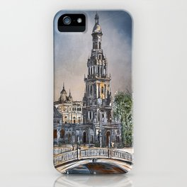 Plaza de Espana in Seville iPhone Case
