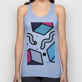 Memphis Pop-art Pattern II Unisex Tank Top