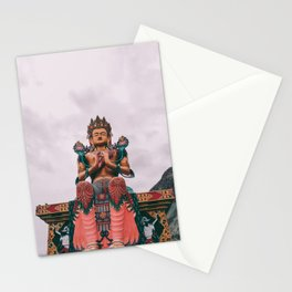 Statue of Maitreya Buddha Stationery Cards