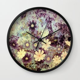 Cosmos and textures Wall Clock