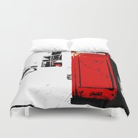 telephone Duvet Covers featuring telephone box by Lued