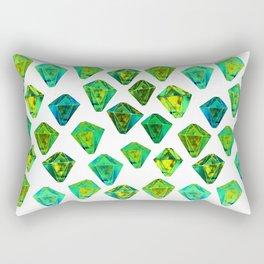 Green gemstone pattern. Rectangular Pillow