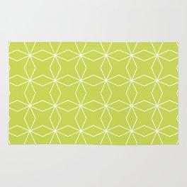 Rhombus Pattern, Yellow Green Rug