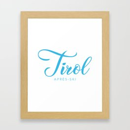 TYROL Framed Art Print