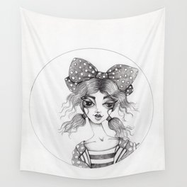 JennyMannoArt Graphite Illustration/Emma Wall Tapestry