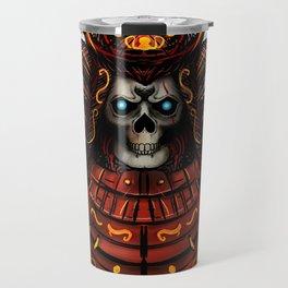 Skull Samurai Travel Mug