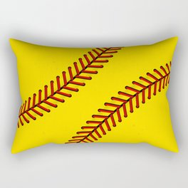 Fast Pitch Softball Rectangular Pillow