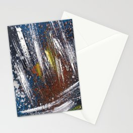 Cosmic blue space Stationery Cards